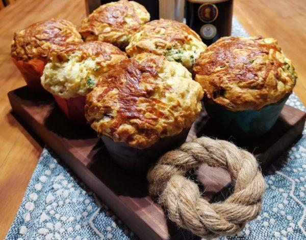 Reuse Sout Muffins (Spinasie, Feta, Spek en Kaas)